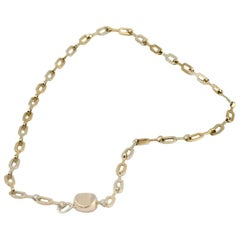 Vhernier 18 Karat Alternate Rose Gold and White Gold Chain Necklace