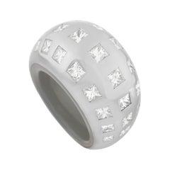 Vhernier 18k White Gold 3.00 Ct Diamond Ring