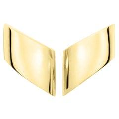 Vhernier 18K Yellow Gold Vague Clip Earrings