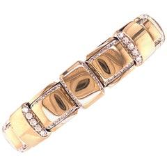Vhernier 2018 Giunco Collection White Diamond White Gold Palladium Bracelet