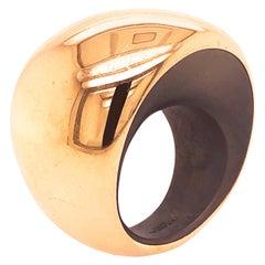 Vhernier 2019 Pirouette Titanium Rose Gold Cocktail Ring