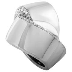 Vhernier Abbraccio 18 Karat White Gold 1.17 Carat Diamond Ring