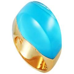 Vhernier Aladino 18 Karat Rose Gold Turquoise and Rock Crystal Ring