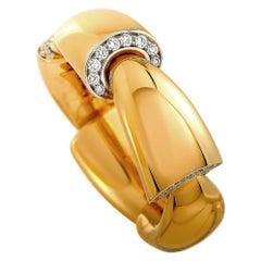 Vhernier Calla Media 18 Karat Rose Gold 0.17 Carat Diamond Ring