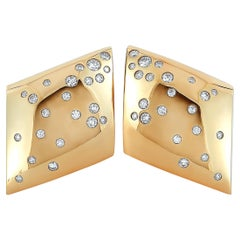 Vhernier Fibula 18 Karat Rose Gold and 1.21 Carat Diamond Earclips