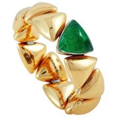 Vhernier Freccia Micro 18 Karat Rose Gold Titanium Jade and Rock Crystal Ring