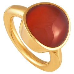 Vhernier Giotto Piccolo 18 Karat Rose Gold Carnelian and Rock Crystal Ring