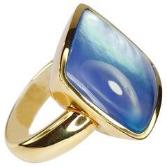 Vhernier Giotto Ring 18 Karat and Lapislazuli Rock Crystal