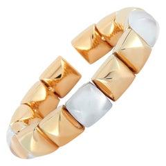 Vhernier Pan di Zucchero 18 Karat Gold Mother of Pearl and Rock Crystal Bracelet