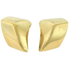 "Vhernier ""Plateau Grande"", Style Rose Gold Large Statement Clip-On Earrings"