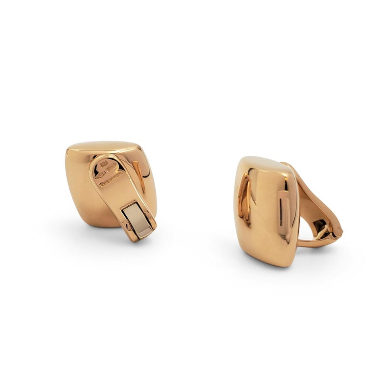 Women's Vhernier 'Plateau' Rose Gold Large Clip-On Earrings For Sale