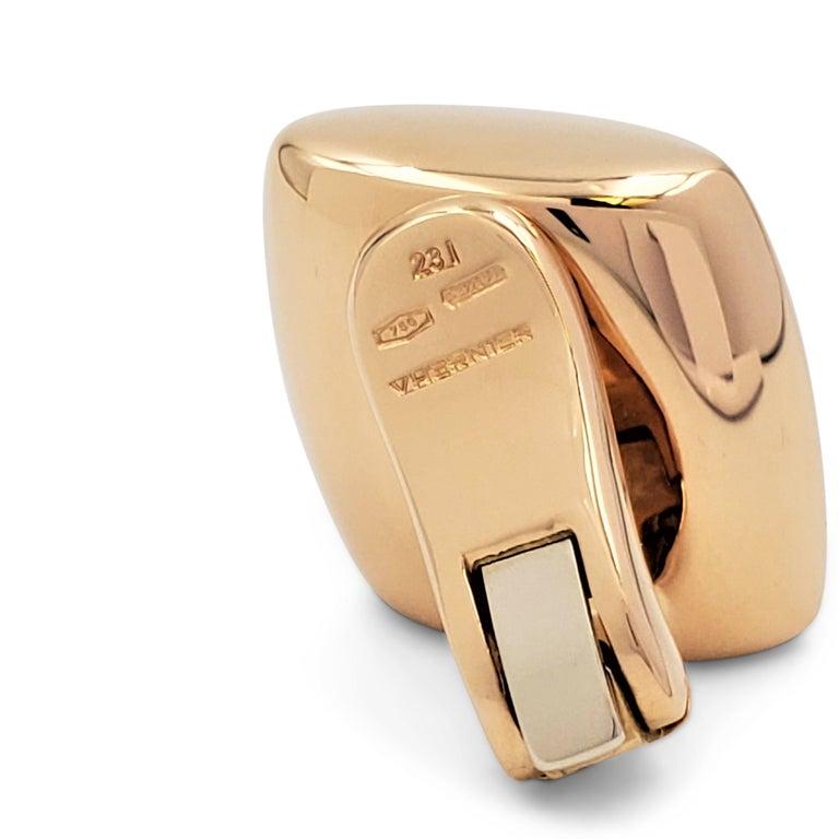 Vhernier 'Plateau' Rose Gold Large Clip-On Earrings For Sale 1