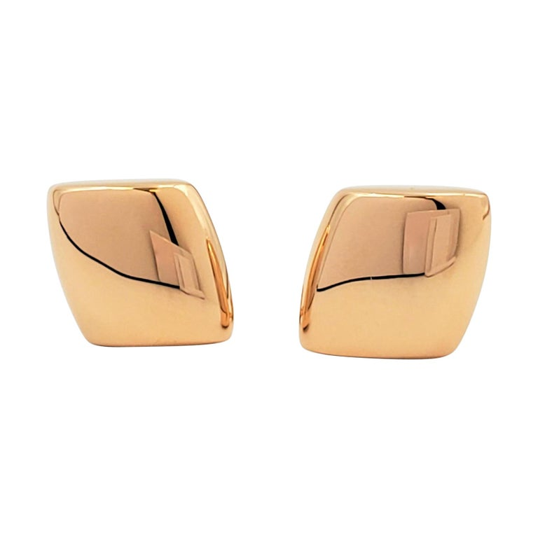 Vhernier 'Plateau' Rose Gold Large Clip-On Earrings For Sale