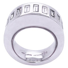 Vhernier Rewind Collection White Diamond Baguette Eternity Engagement Ring