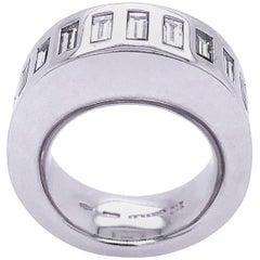 Vhernier Rewind Collection White Diamond Baguette Eternity Engagement Ring