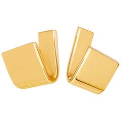 Vhernier Tonneau 18 Karat Rose Gold Ear Clips