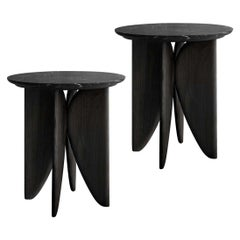 VI, Burned Oak and Marble Bedside Table Set from Noviembre by Joel Escalona