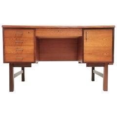 Vi-ma Møbler Danish Teak Desk Midcentury Vintage, 1960s