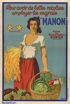 Manon original French vintage poster