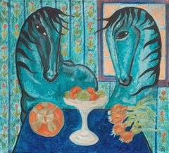 'The Blue Hour with Horses', Danish Symbolist, Charlottenborg Art Gallery