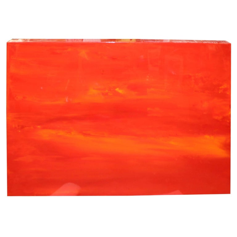 "Vibrant Abstract by the Noted Californian Artist John Szabo ""Sunset V"""