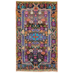 Vibrant Colored Persian Handmade Accent Rug