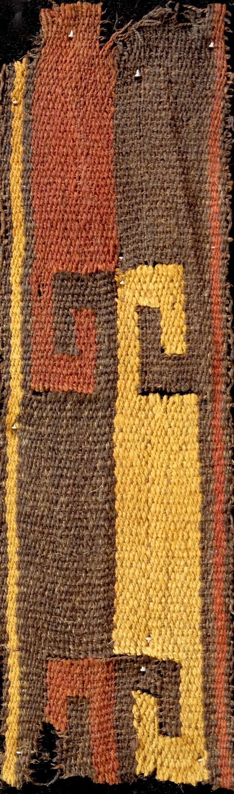 Peruvian Vibrant Inca Pre-Columbian Textile Peru Ad Ex Ferdinand Anton, circa 1400-1532 For Sale