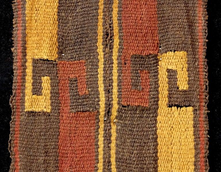 Hand-Woven Vibrant Inca Pre-Columbian Textile Peru Ad Ex Ferdinand Anton, circa 1400-1532 For Sale