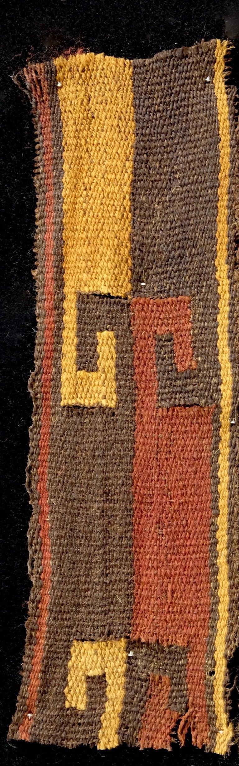 Vibrant Inca Pre-Columbian Textile Peru Ad Ex Ferdinand Anton, circa 1400-1532 In Good Condition For Sale In San Pedro Garza Garcia, Nuevo Leon