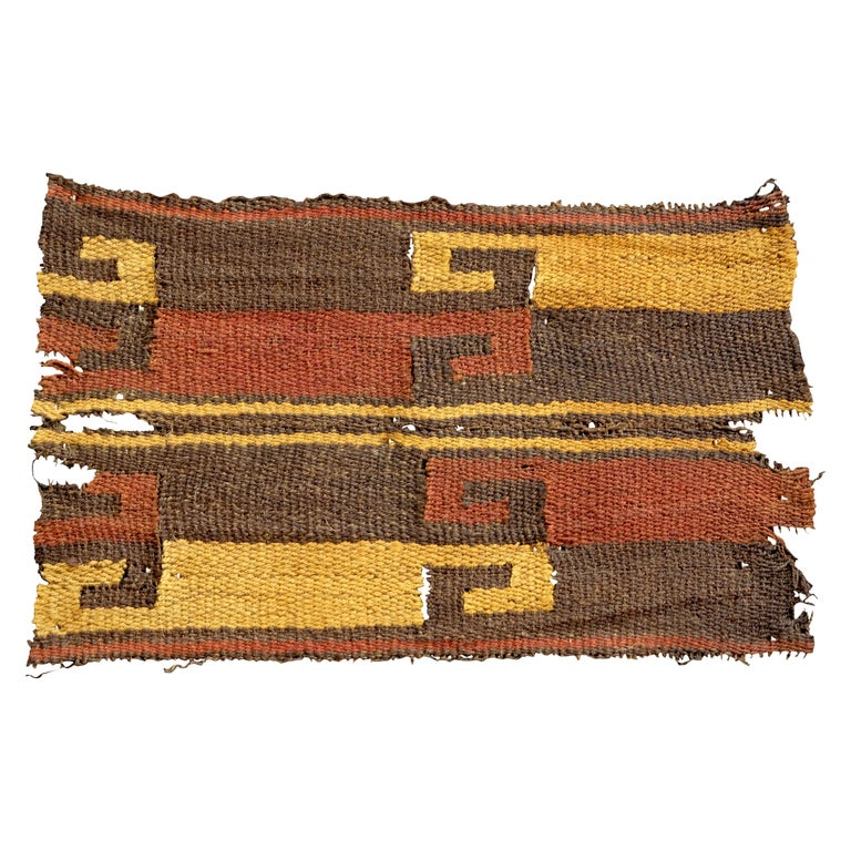 Vibrant Inca Pre-Columbian Textile Peru Ad Ex Ferdinand Anton, circa 1400-1532 For Sale