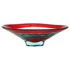 Vibrant Murano Glass Bowl by Fulvio Bianconi