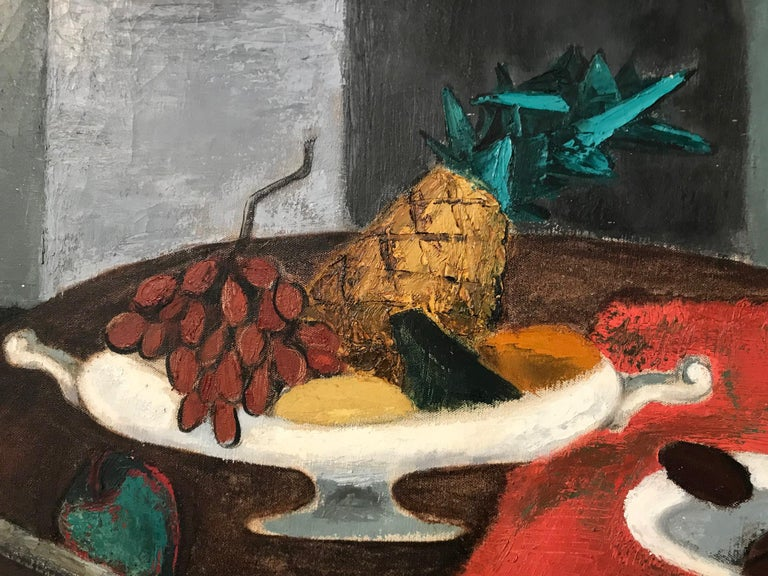 American Vibrant Oil on Canvas Still Life by Virginia Wylie For Sale