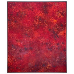 "Vibrant Red Abstract ""Pompeii"""