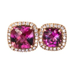 Vibrant Tourmaline and Diamond Ring