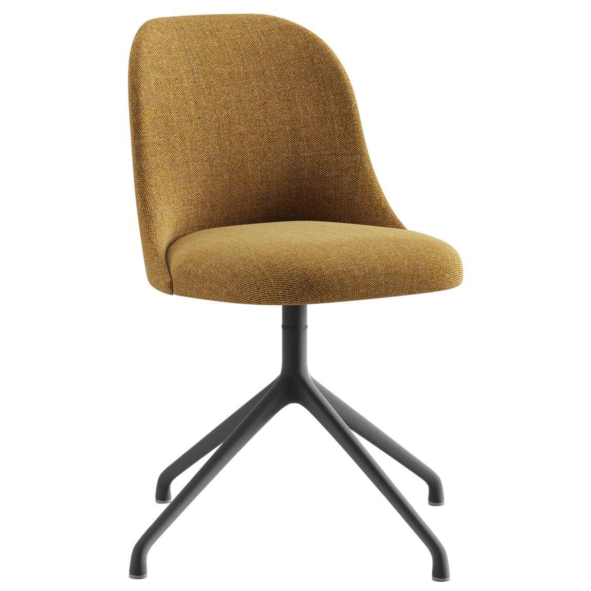 Viccarbe Aleta Chair Pyramid Base in Kvadarat Remix 433 Fabric