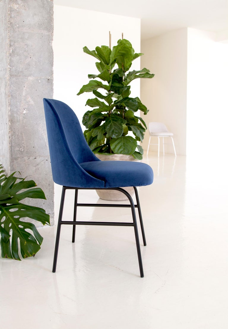Molded Viccarbe Aleta Dining Chair Designed by Jaime Hayon in Fabric Remix 143 For Sale