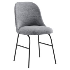 Viccarbe Aleta Metal Base Chair by Jaime Hayon in Kvadrat Remix 143