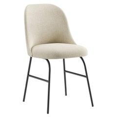 Viccarbe Aleta Metal Base Dining Chair by Jaime Hayon, Fabric Crevin Gaudi 05