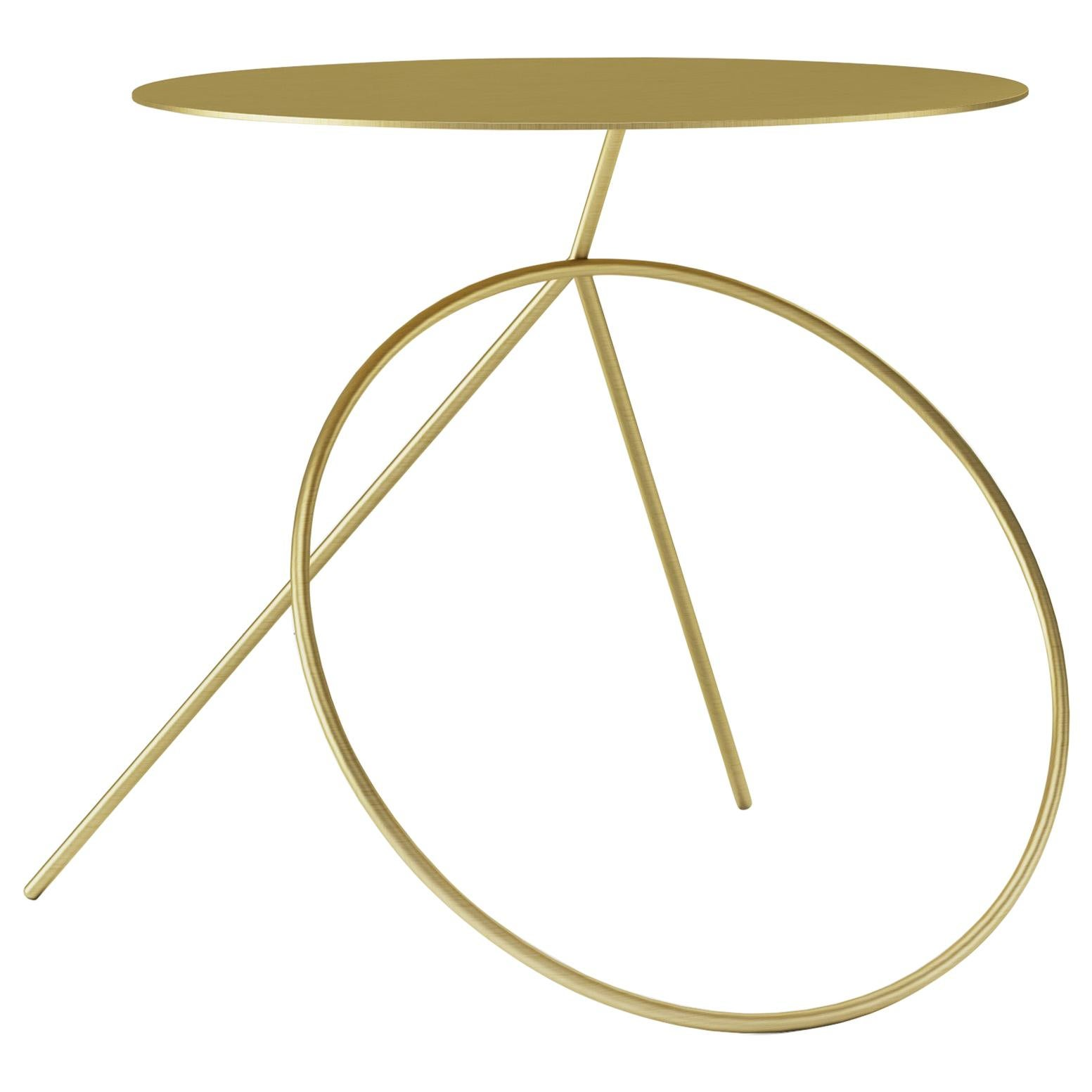 Viccarbe Bamba Side or Coffee Table, Brass Finish by Pedro Paulo Venzón