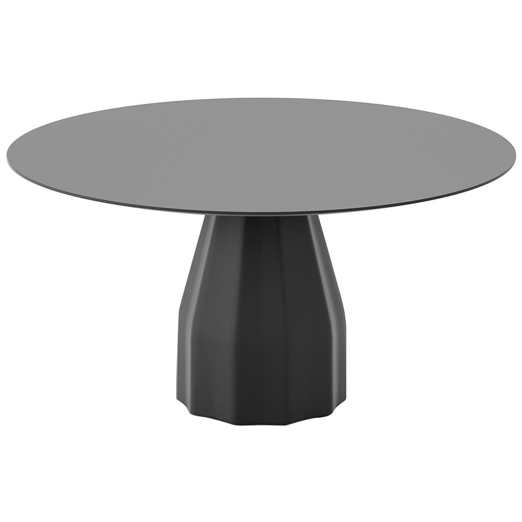 Viccarbe Dining Burin Table, Black Finish by Patricia Urquiola