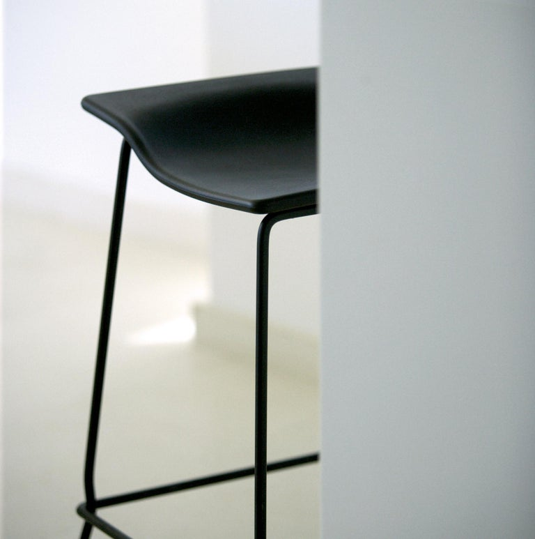 Spanish Viccarbe Last Minute High Stool by Patricia Urquiola, Black For Sale