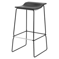 Viccarbe Last Minute High Stool by Patricia Urquiola, Black