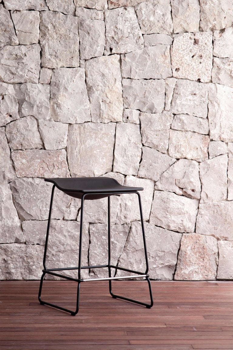 Spanish Viccarbe Last Minute High Stool by Patricia Urquiola, White For Sale