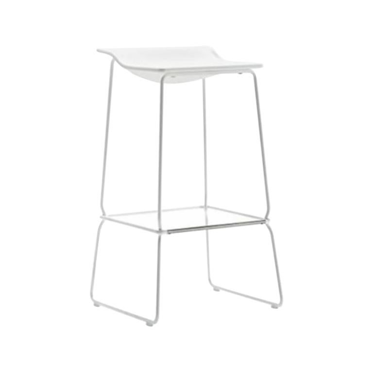 Viccarbe Last Minute High Stool by Patricia Urquiola, White
