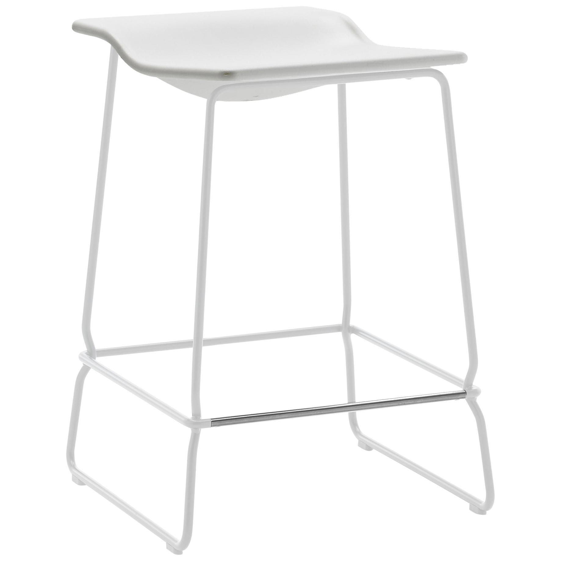 Viccarbe Last Minute Stool by Patricia Urquiola, White