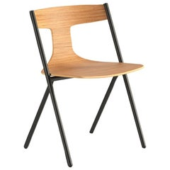 Viccarbe Quadra Dining or Side Chair, Matt Oak, by Mario Ferrarini