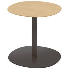 Viccarbe Serra Low Table, Matt Oak and Black Finish by Víctor Carrasco