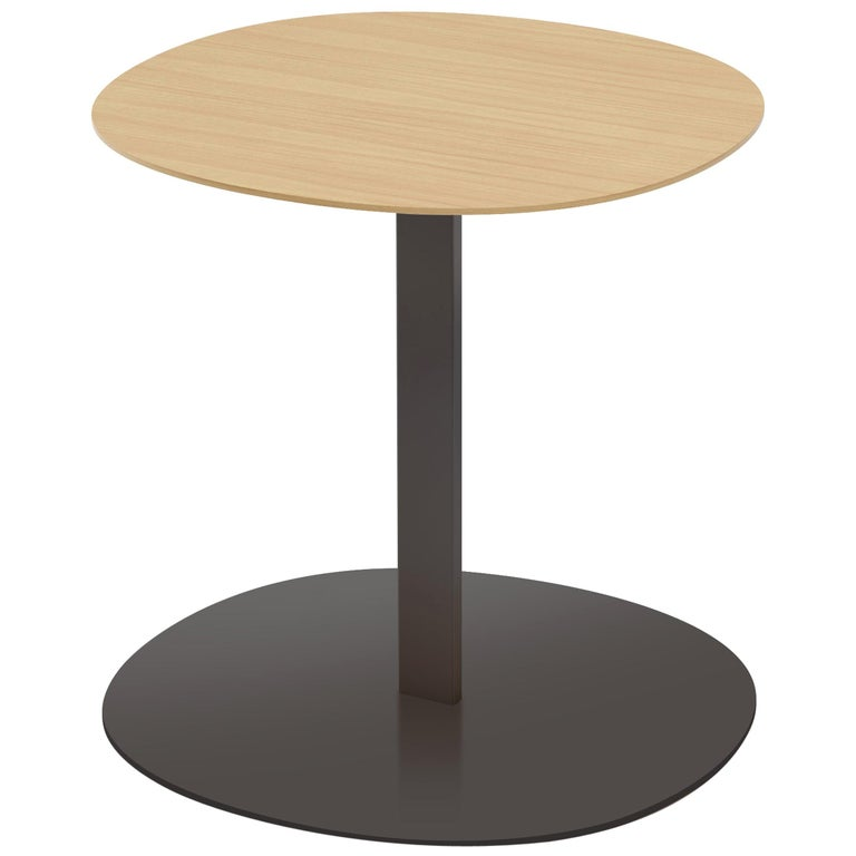 Viccarbe Serra Low Table, Matt Oak and Black Finish by Víctor Carrasco For Sale