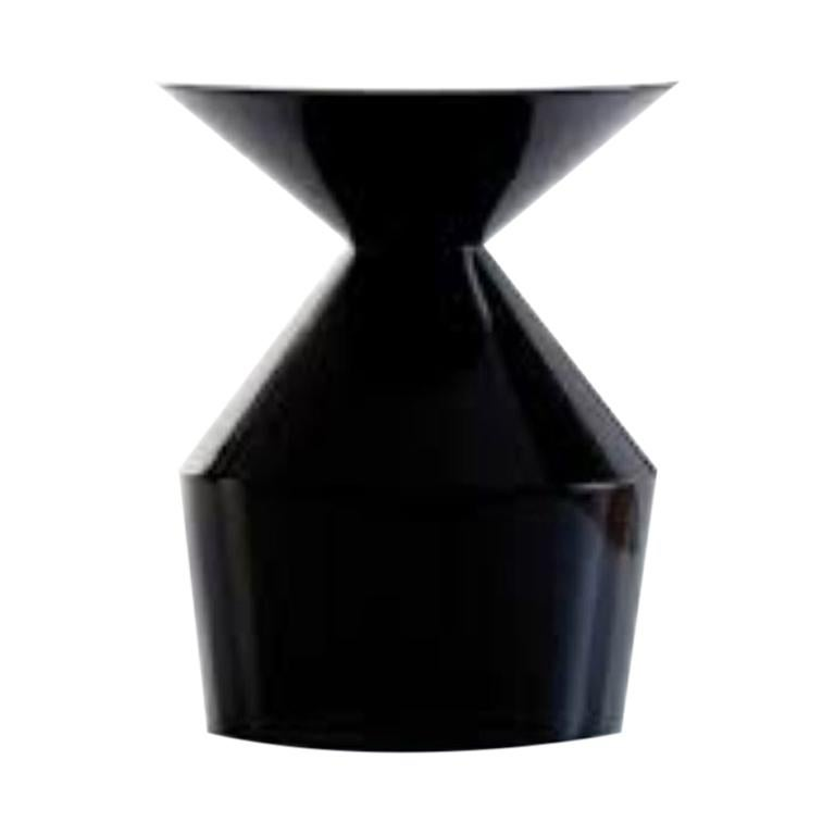Viccarbe Shape Low Table O, Black Gloss by Jorge Pensi