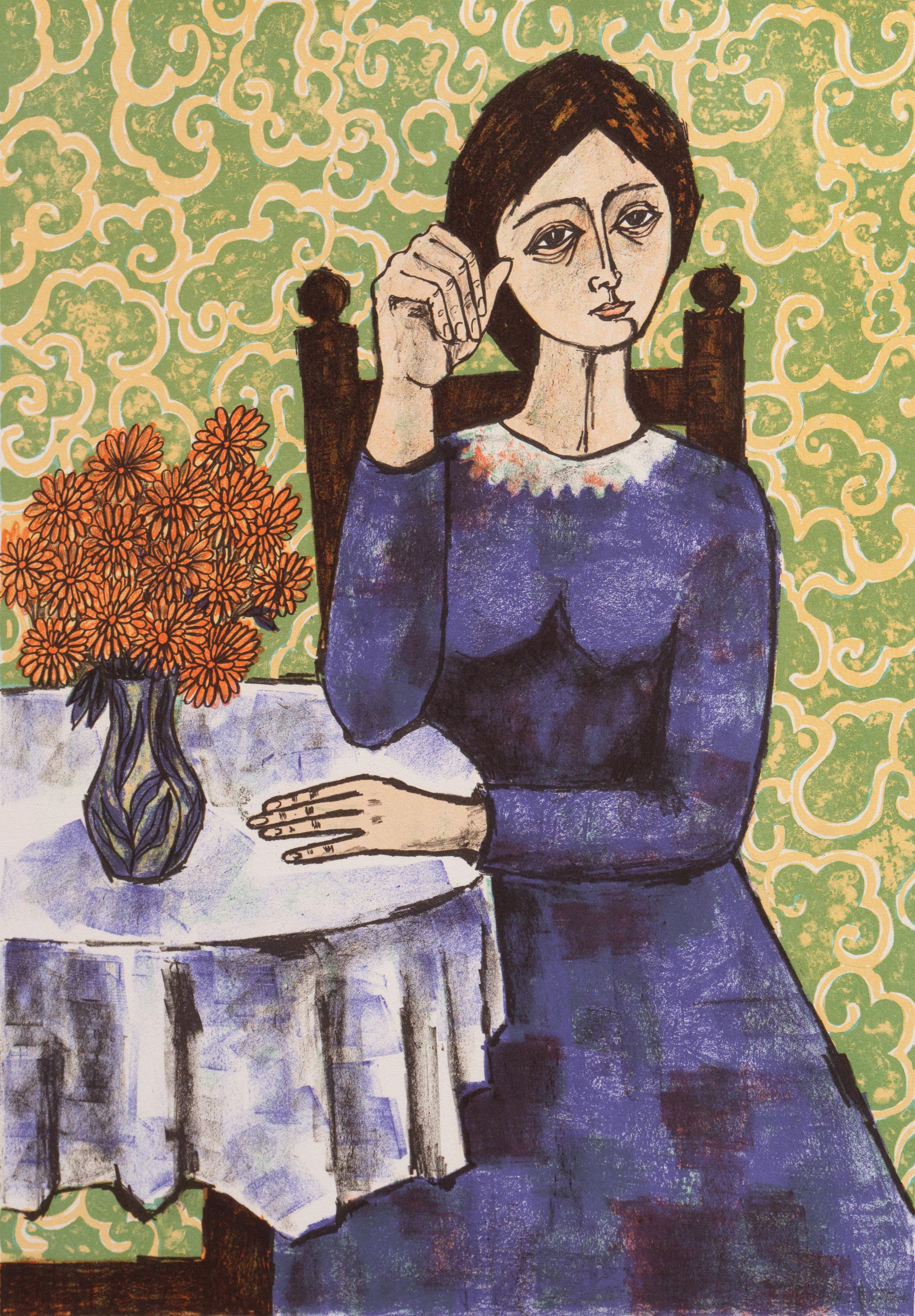 'Woman in Blue', Nouvelle Gravure Internationale, Collector's Guild